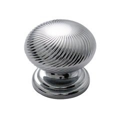 "Carbonite Knob 1-1/4"" Dia Chrome"