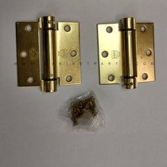 LB4310-350 Square Corner Single Act Spring Hinge - Brass