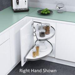 "Cornerstone Blind Corner for 36"" Cabinets LH White/Silver"