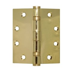 Full Mort. Ball Bearing Hinge 4-1/2 inch x 4-1/2 inch Bright Brass