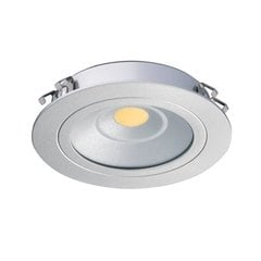 Loox 24V Recess Mount LED Warm White Silver Finish