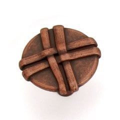 Lineage 1-3/8 Inch Diameter Antique Copper Cabinet Knob