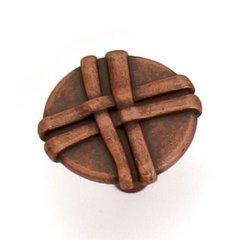 Lineage 1-3/8 Inch Diameter Antique Copper Cabinet Knob <small>(#37007)</small>
