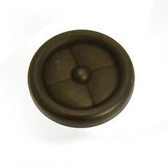 Paris 1-1/4 Inch Diameter Oil Rubbed Bronze Cabinet Knob