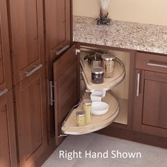 Cornerstone Blind Corner for 36 inch Cabinets LH Maple/Silver