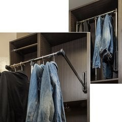 33 - 48 Inch Expanding Wardrobe Lift - Chrome and Black