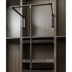 33 - 48 Inch Soft Close Expanding Wardrobe Lift - Black Powder Coat