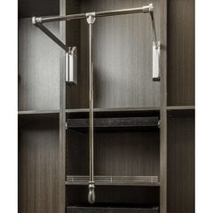 33 - 48 Inch Soft Close Expanding Wardrobe Lift - Polished Chrome