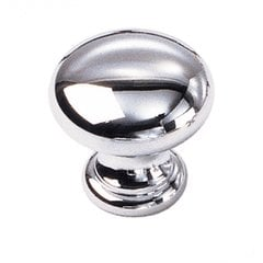 Solid Brass 1-1/16 Inch Diameter Polished Chrome Cabinet Knob
