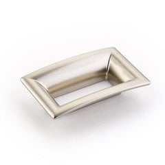 Finestrino 2-1/2 Inch Center to Center Satin Nickel Cabinet Pull