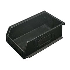 Omni Track Storage Bin 4-1/4 inch x 7-1/4 inch x 3 inch Black Plastic