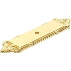 Georgian 3-3/4 Inch Center to Center Polished Brass Back-plate