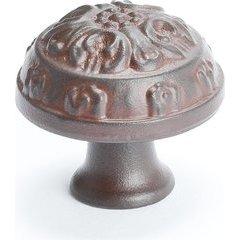 American Revival 1-1/4 Inch Diameter Bronze Rust Glaze Cabinet Knob