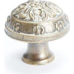 American Revival 1-1/4 Inch Diameter Antique Latte Glaze Cabinet Knob
