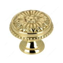Louis XV 1 Inch Diameter Brass Cabinet Knob <small>(#BP04325130)</small>