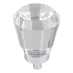 "Harlow Tapered Cabinet Knob 1"" Dia - Polished Chrome"