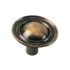 Classic Traditions 1-1/4 Inch Diameter Antique Brass Cabinet Knob <small>(#75705)</small>