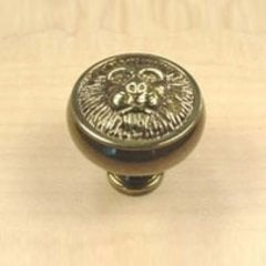 Roman 1-1/4 Inch Diameter Polished Antique Cabinet Knob