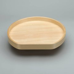 "D Shape Single Shelf 32"" Diameter - Wood"