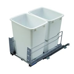 Kessebohmer Double Trash Pullout 36 Quart White
