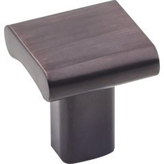 Park Knob 1 inch Diameter Brushed Oil Rubbed Bronze