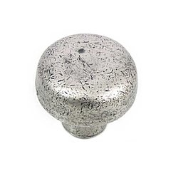 Riverstone 1-1/4 Inch Diameter Antique Pewter Cabinet Knob <small>(#84464)</small>