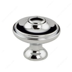 Art Deco 1-3/16 Inch Diameter Chrome Cabinet Knob <small>(#408030140)</small>