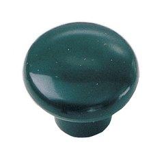 Plastics 1-1/4 Inch Diameter Green Cabinet Knob <small>(#34646)</small>