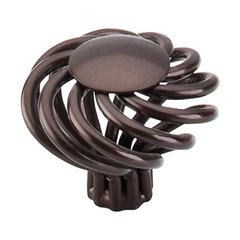 Normandy 1-1/2 Inch Diameter Oil Rubbed Bronze Cabinet Knob