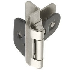 Double Demountable 3/8 inch Inset Hinge Satin Nickel - Pair