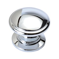 Williamsburg 1-1/4 Inch Diameter Chrome Cabinet Knob