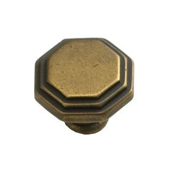 Firenza Designs 1-1/8 Inch Diameter Light Firenza Bronze Cabinet Knob