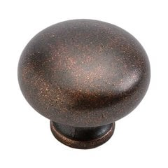Cottage 1-1/4 Inch Diameter Dark Antique Copper Cabinet Knob
