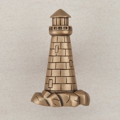 Lighthouse Knob 1-7/8 inch Diameter Museum Gold