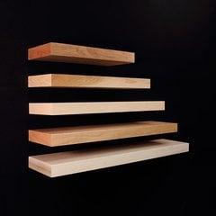 """Omega National Products 42"""" Long Floating Shelf System Unfinished Alder FS0142QUF1"""