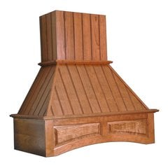 30 inch Wide Arched Nantucket Range Hood-Red Oak