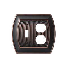 Allison One Toggle, 1 Receptacle Wall Plate Oil Rubbed Bronz