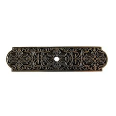 Olde World 3-7/8 Inch Length Brilliant Pewter Back-plate <small>(#NHE-570-BP)</small>