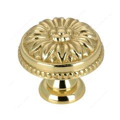 Louis XV 1-3/16 Inch Diameter Brass Cabinet Knob <small>(#BP04330130)</small>
