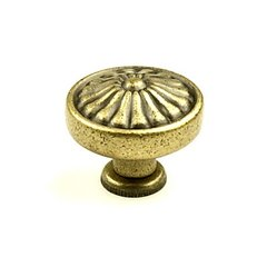 Hartford 1-1/4 Inch Diameter Aged English Cabinet Knob <small>(#15326-3B)</small>