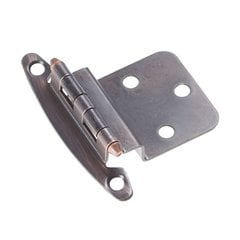 3/8 inch Inset Surface Mt. Hinge Pair Vintage Bronze Free Swing <small>(#P140-VB)</small>