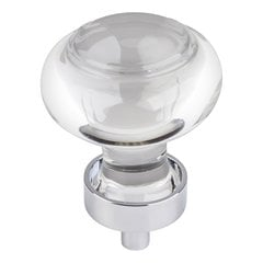 "Harlow Cabinet Knob 1-7/16"" Dia - Polished Chrome <small>(#G120PC)</small>"
