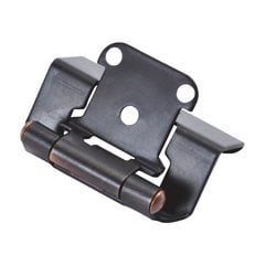 Full Wrap 1/2 inch Overlay Hinge Pair Vintage Bronze <small>(#P5710F-VB)</small>