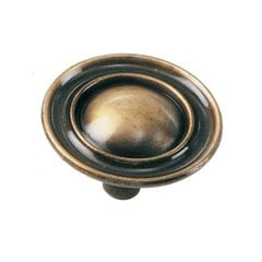 Classic Traditions 1-1/2 Inch Diameter Antique Brass Cabinet Knob