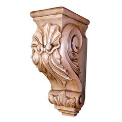Cor-3 Acanthus Shell Corbel 14 inch H-Linden <small>(#COR-3-B)</small>
