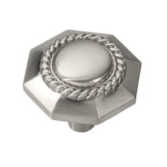 Ravel 1-3/16 Inch Diameter Satin Nickel Cabinet Knob