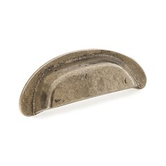 Cast Bronze Mountain 3-1/2 Inch Center to Center Italian Nickel Cabinet Cup Pull <small>(#775-IN)</small>