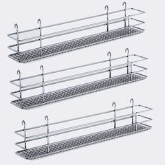 "DSA Three Basket Set 3.38"" Wide - Chrome <small>(#9000 2570)</small>"