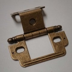 Full Inset Ball Tip Hinge-Burnished Brass Sold Each <small>(#PK3180TBBB)</small>