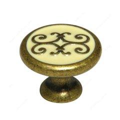 Richelieu Art Deco 1-3/16 Inch Diameter Florence Cabinet Knob 3413030209